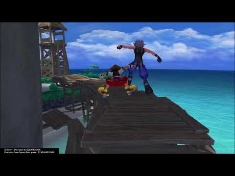 KINGDOM HEARTS How To Beat Riku In Race At Destiny Island