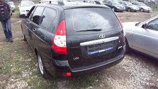 2009 Lada Priora Wagon.Start Up, Engine, and In Depth Tour.