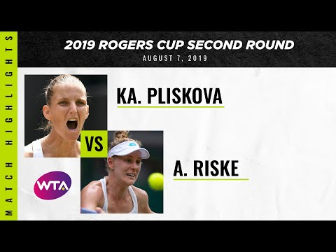 Karolina Pliskova vs. Alison Riske | 2019 Rogers Cup Second Round | WTA Highlights
