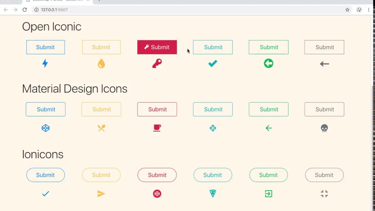Button icon hover reveal with CSS / SCSS - Defrian Yarfi