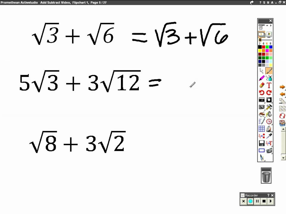 math worksheet : add and subtract radicals  youtube : Adding And Subtracting Square Roots Worksheet