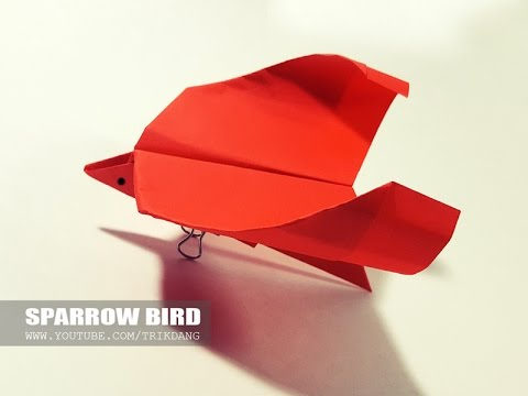 Origami For Kids How To Make A Simple Paper Origami Bird That Flies Sparrow Bird