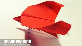 Origami for Kids: How to make a SIMPLE Paper/Origami Bird that Flies | Sparrow Bird