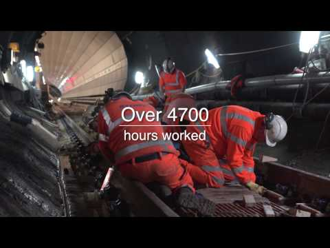 Phase 1 Timelapse of Wirral Loop Line Track Renewal