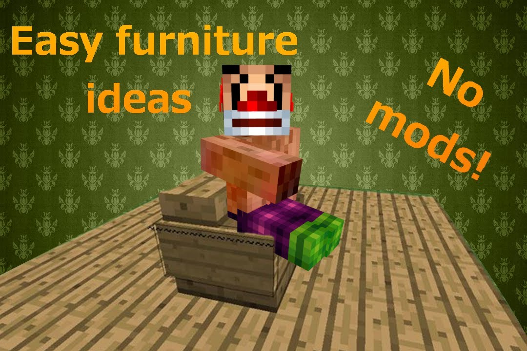 Easy Modern Furniture Ideas For Minecraft XboxPCPlaystation - Cool minecraft furniture ideas