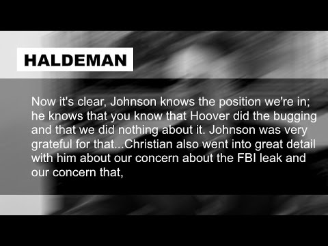 Richard Nixon and H.R. Haldeman on 1968 Campaign Surveillance November 3 1972
