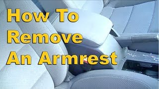 How to Remove a VW MK5 Armrest Removal