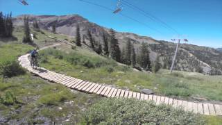 Big Mountain Trail for mountain bikers at Snowbird