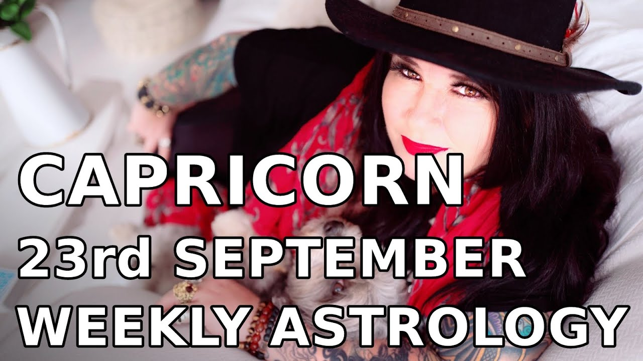 capricorn weekly astrology forecast 29 october 2019 michele knight
