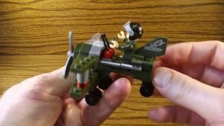 Lego совместимый конструктор Enlighten, Военный самолет 804 Reconnaissance. Обзор и сборка