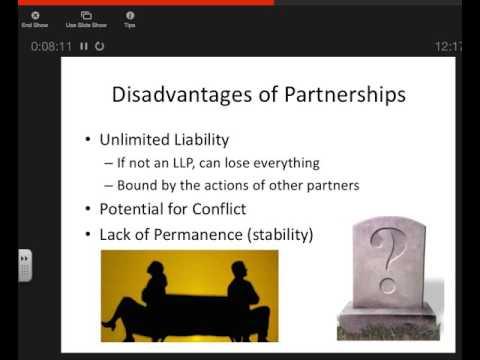 Economics: Ch 8: Section 2: Notes: Partnerships & Franchises