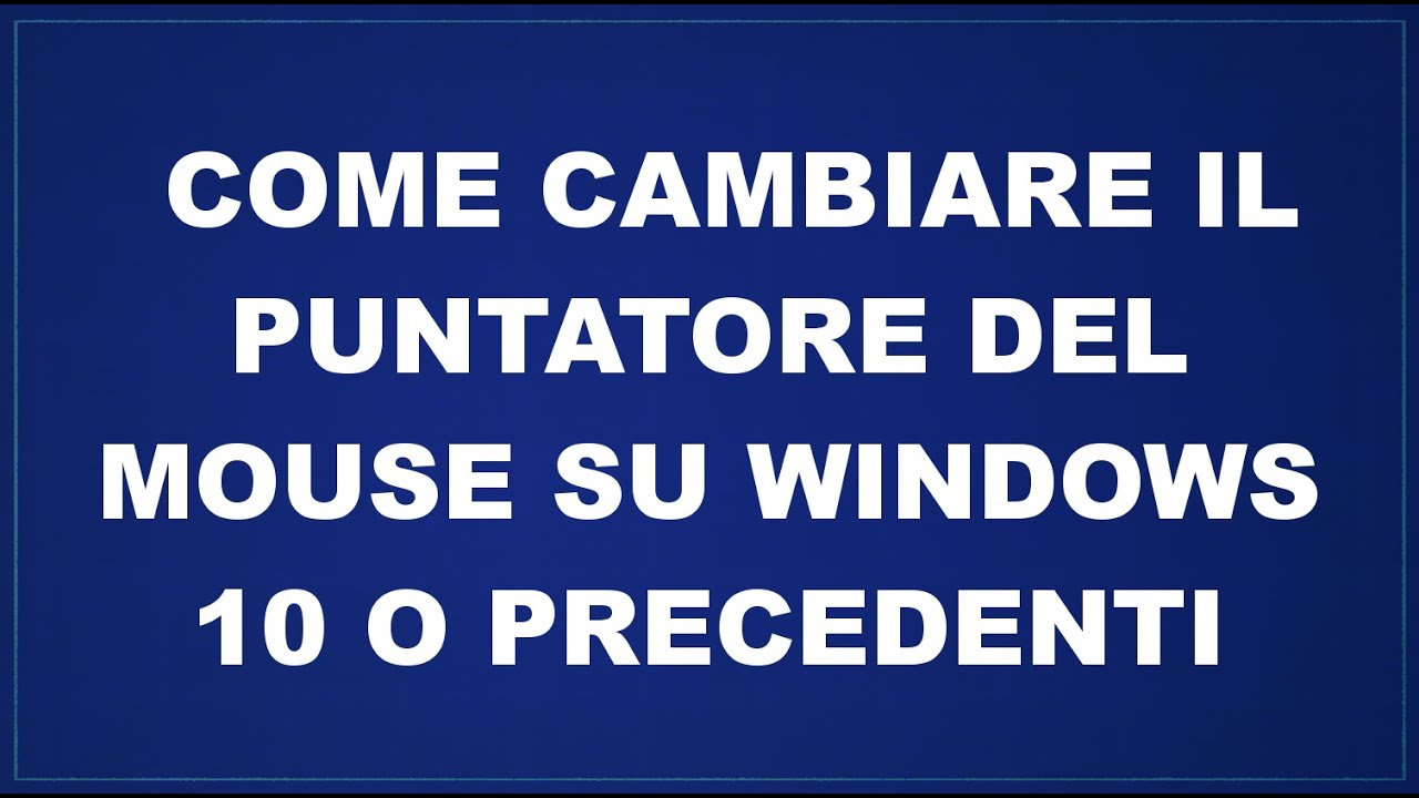 SCARICA PUNTATORI WINDOWS 7