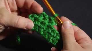 how to crochet left handed half double crochet hdc