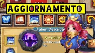 Tutto sull' AGGIORNAMENTO -  New Hero COMMODORA + Talents Liv.9! November Update   Castle Clash ITA
