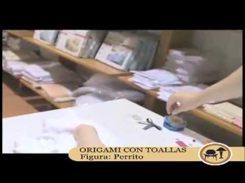 origami con toallas perro