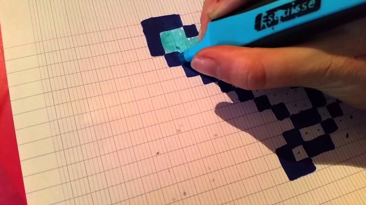 Comment dessiner une p e minecraft facile youtube - Eppe minecraft ...