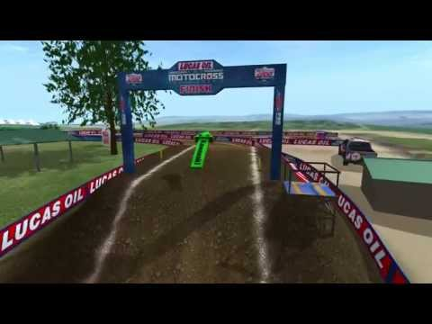 2013 RedBud Motocross Animated Track Map Dynamic Cam