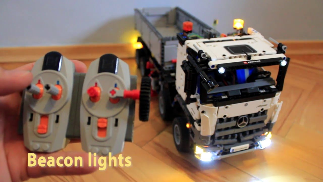 lego 42043 mercedes actros led lighting kit youtube. Black Bedroom Furniture Sets. Home Design Ideas