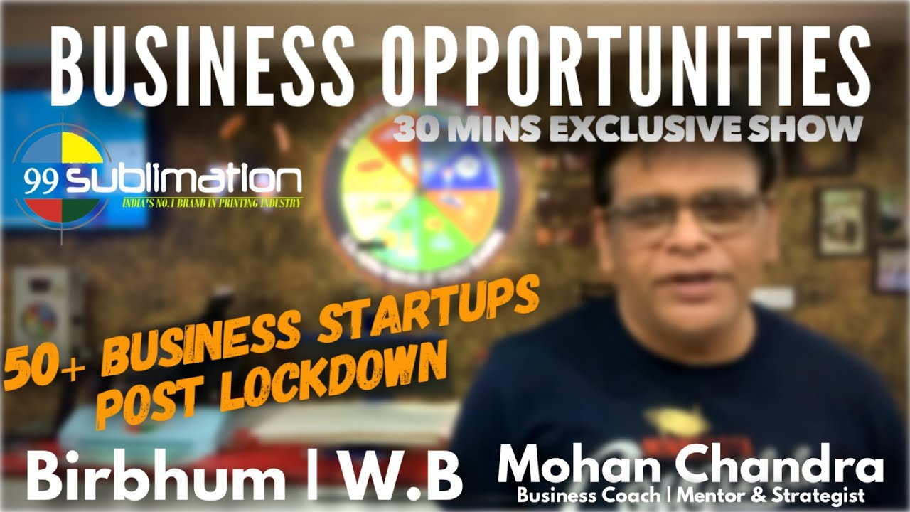 9625478571   Birbhum Business Opportunities   Post Lock down StartUps    Bangal Printing LED Plastic