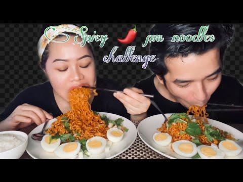 Download Spicy 🌶 2pm ramen🔥🔥🥵🥵*bowl rice 🍚 challenge*boiled egg🥚.nepali couple challenge.Janu&suman