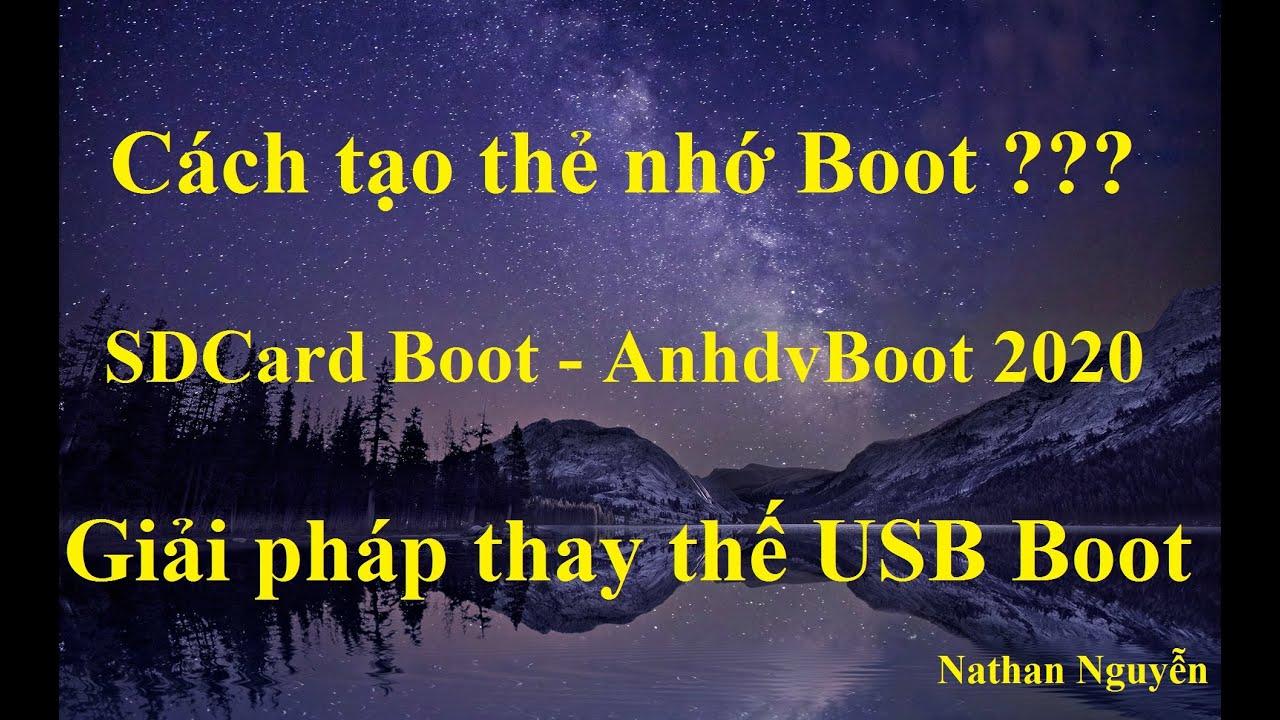[NTH – 1 Click] Cách tạo thẻ nhớ Boot (SD Card Boot) hiệu quả nhất by Nathan