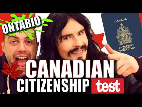 Irish People Try Canadian Citizenship Test!!   'ONTARIO UNBOXING'