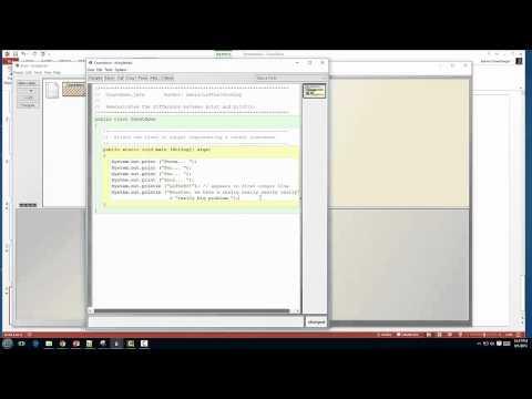 AP CS video 2.1 - String Literals & concatenation