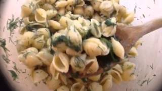 Christina Making Lemon-dill Pasta Salad