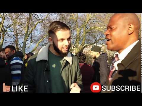 Christian preacher invites SOTK to debate  SPEAKERS CORNER  HYDE PARK 1