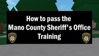 ROBLOX | Mano County Sheriff es Office | Wie man das Training bestanden!