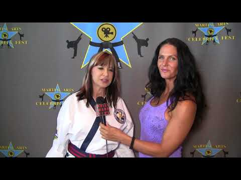 With Cynthia Rothrock at Martial Arts Celebrity Fest
