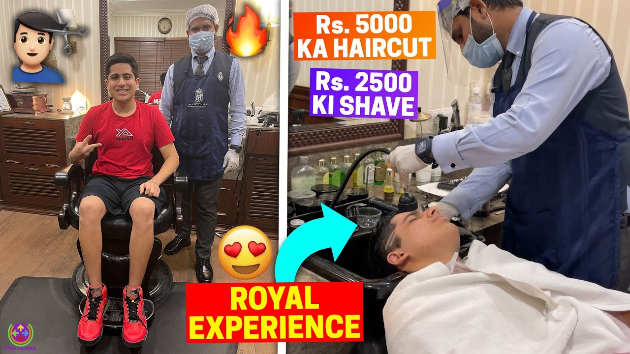 Rs.5,000 KA HAIRCUT and SHAVE - ROYAL EXPERIENCE !! 😍😎🔥