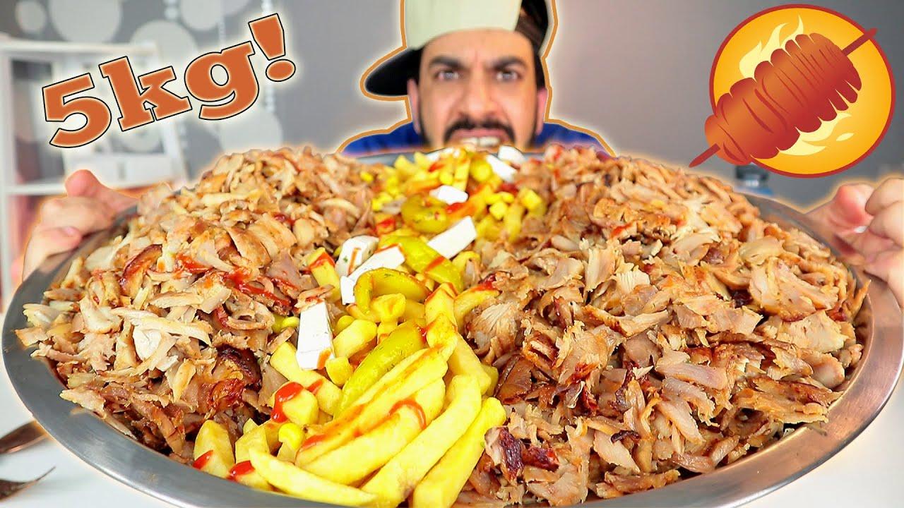 تحدي اكل ٥ كيلوات شاورما دونر كباب بنوعين لحم ودجاج ! Shawarma - Doner kebab 5kg Challenge