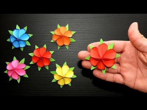 Fast and easy paper flowers 🌹 Origami roses 🌹 Origami Easy Crafts