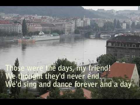 "Mary Hopkin ""Those Were The Days"" piano karaoke with lyrics"