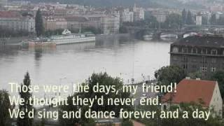 "Mary Hopkin ""Those Were The Days"" piano karaoke with lyrics"