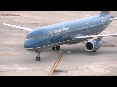 Vietnam Airlines Airbus A321-231 VN-A334 Landing at Nagoya