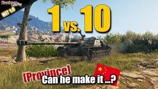 WoT: WZ-120-1G FT, Chinese premium TD alone vs 10 enemies, WORLD OF TANKS