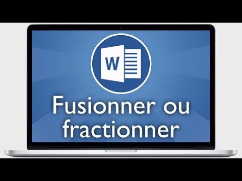 Tutoriel Word 2013 - Fusionner ou fractionner des cellules d'un tableau
