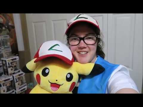 Pikachu Wearing Ash Trainer Hat Poké Plush Trainer Size 2017