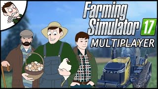 WORLDS BEST FARMERS?! Farming Simulator 2017 Multiplayer Gameplay Part 1