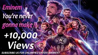 Fast track song -  You&#39re never gonna make it - Avengers Endgame - Sing with lyrics ASMR