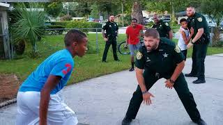 Clay County, FL Sheriff Deputies vs. Teens in impromptu Basketball game (w/Devin Graham)