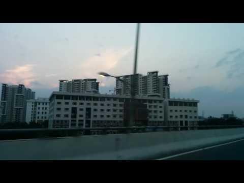 Glimpse of Bangalore city, India skyline