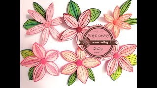 Bridgit's Quilling flower made with oca-wrap comb technique