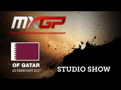 2017 MXGP of Qatar Studio Show with Thomas Covington and Tim Gajser