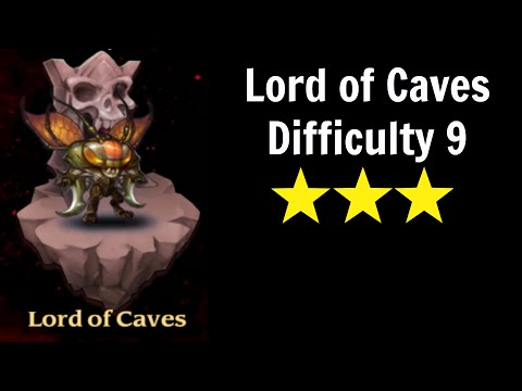 Outland Portal, Lord of Caves, Difficulty 9, 3 stars (weakest possible lineup?)
