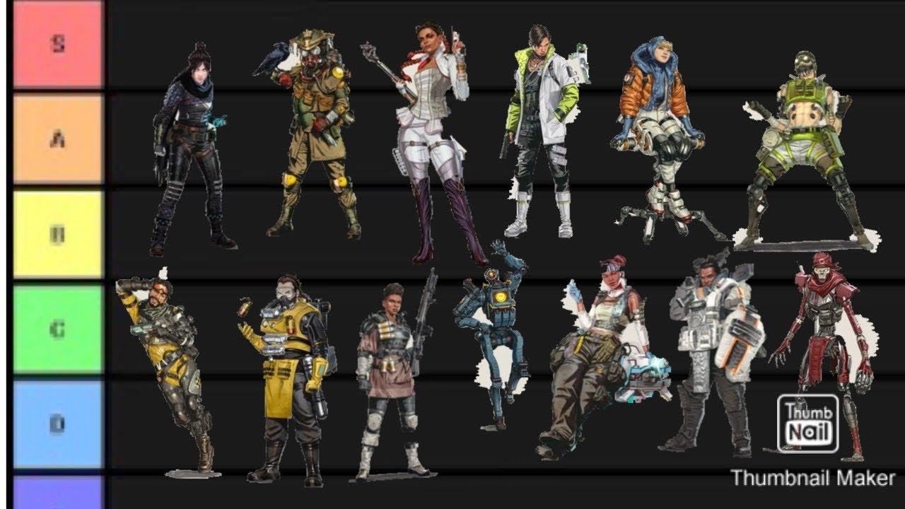 The Apex Legends Season 5 Tier List - YouTube