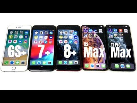 iPhone 6S Plus vs iPhone 7 Plus vs iPhone 8 Plus vs iPhone XS Max vs iPhone 11 Pro Max Speed Test!