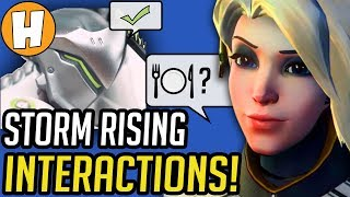 Overwatch - ALL Storm Rising Interactions + Dialogue! | Hammeh